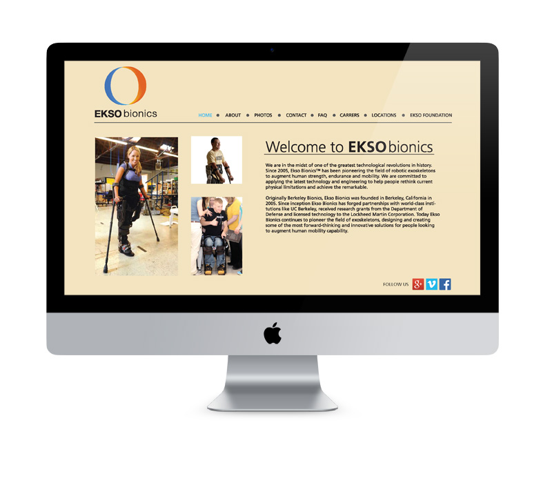 Ekso Bionics website design