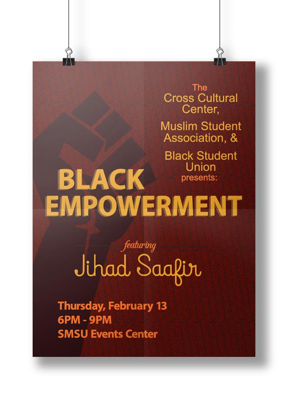 SMSU Black Empowerment Event Poster