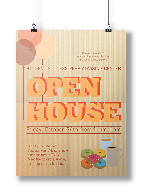 Student Success Peer Advisor Open House Poster